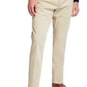 Ibiza Khaki Silk & Linen Dress Pants